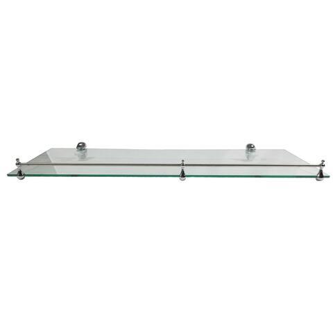 "Miseno MT-WHSSEC0816-RE 16"" Clear Glass Bathroom Shelf"