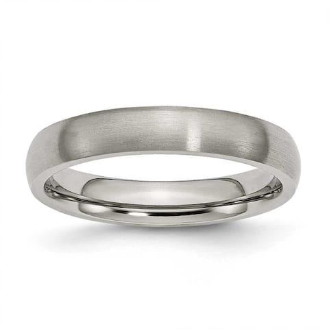 Chisel Rounded Brushed Titanium Ring (4.0 mm)