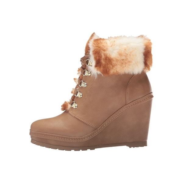 Nanette Lepore Womens Malee Faux Fur Closed Toe Ankle Cold Weather Boots
