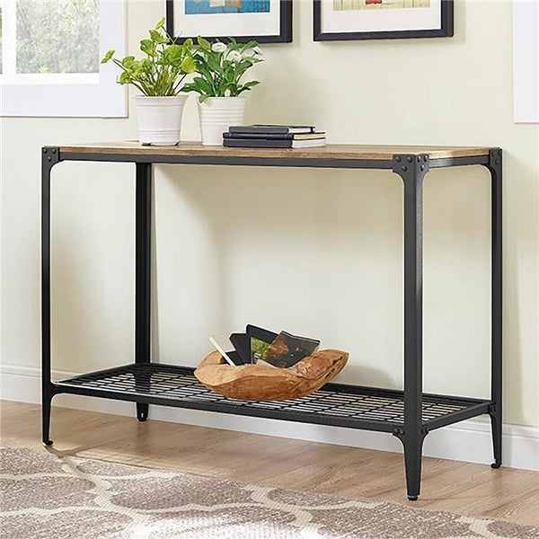 Fantastic Angle Iron Rustic Wood Sofa Entry Table Barnwood Pabps2019 Chair Design Images Pabps2019Com