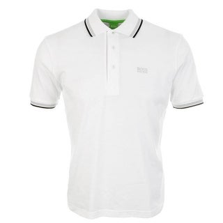 Hugo Boss Men's White Paddy Pique Cotton Polo (More options available)