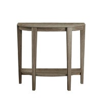 Monarch Specialties I 2452 36 Inch Wide Wood Hall Console Table Dark Taupe