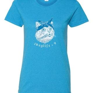 Link to Women Thug Life X 9 Cat Design Tee Shirt , Inspirational Top, Awareness, Gym Tee, Runner, Funny, Thug, Thuglife , Geek, Similar Items in Intimates
