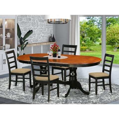 5 PC Dining Room Set Included 1 Dining Table with 4 Wood Dining Chairs