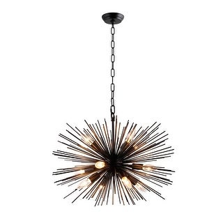 Link to 12 Light Sputnik Chandelier in Black finish - 24wx24Lx15.80H in. Similar Items in Chandeliers