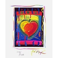 "Heart Series V, Ltd Ed Lithograph (Mini 5"" x 4""), Peter Max"
