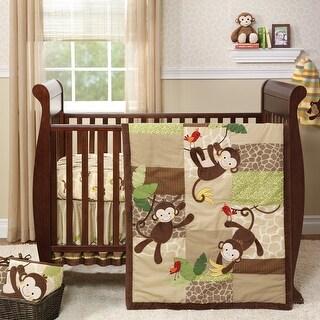 Lambs & Ivy Brown Tickles 5-Piece Crib Bedding Set