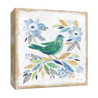 "PTM Images 9-147211  PTM Canvas Collection 12"" x 12"" - ""Oiseau Chanteur I"" Giclee Birds Art Print on Canvas"