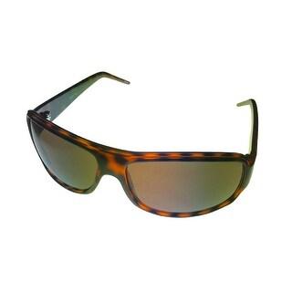 Timberland Sunglass Demi Amber, Solid Brown Lens Plastic Wrap TB7077 52E