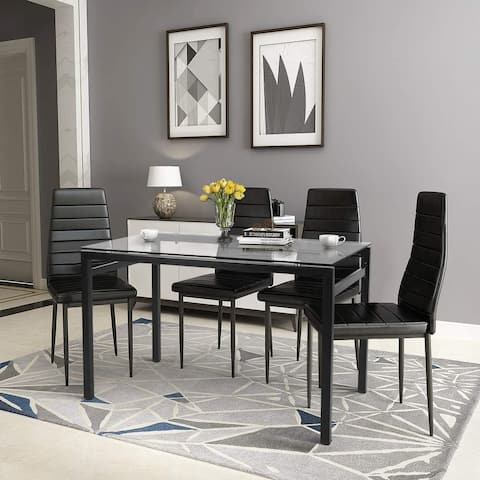 Dining Chairs Set for 4, PU Leather Chairs Dining Room Set for Home, Kitchen