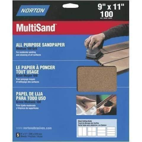 "Norton 47735 Multi Sandpaper, 9"" x 11"""