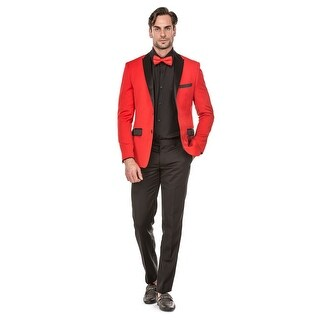 Porto Filo 2 Pcs RED Tuxedo Slim-Fit Men's (Jacket+ Pant) - Navy Blue