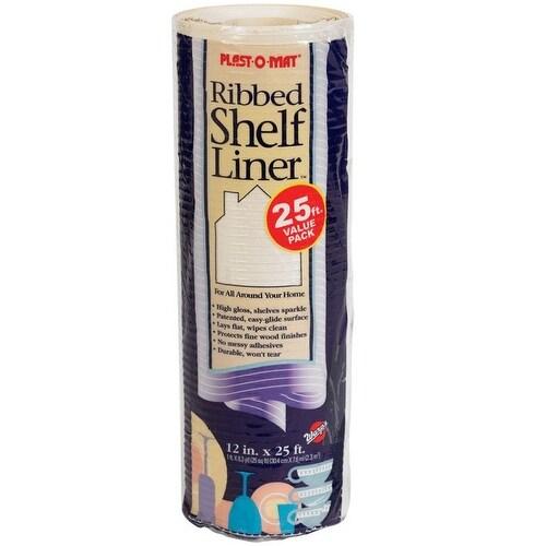 """Warp's PM120-Q Plast-O-Mat Ribbed Shelf Liner, 12"""" W x 20' L"""
