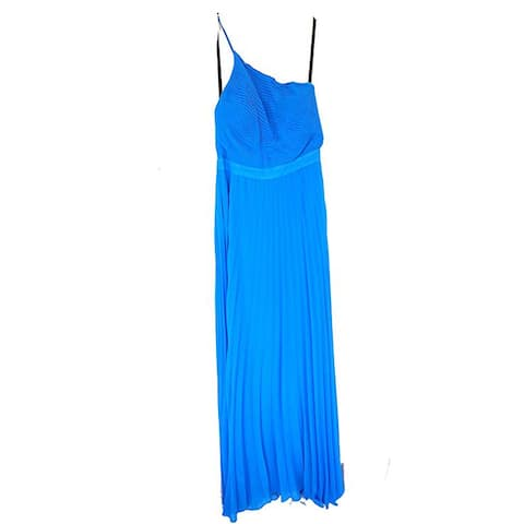 Nicole Miller Sleeveless Silk Dress, Blue, P