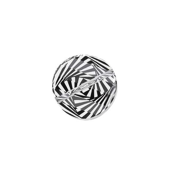 Swarovski Elements Crystal, 5621 Twist Bead 18mm, 1 Piece, Crystal Zebra Print