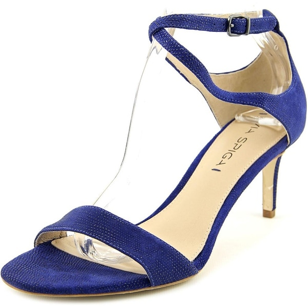 Via Spiga Leesa Women  Open Toe Suede Blue Sandals