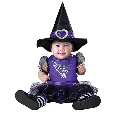 Witch & Famous Infant Costume - Purple