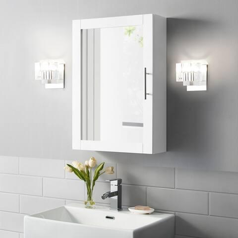 """Savannah Mirrored Wall Cabinet - 6""""d x 18""""w x 26""""h"""