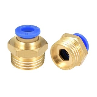 """10 Pcs 3/8"""" G Male Straight Thread 6mm Push In Joint Pneumatic Quick Fittings"""