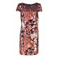 Vince Camuto Women's Cap Sleeve Sequin Mini Dress - bronze - 10