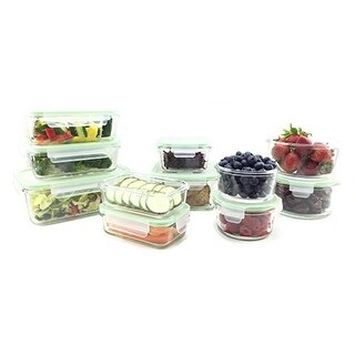 Kinetic Glassworks Oven Safe Glass Food Storage Container Set With