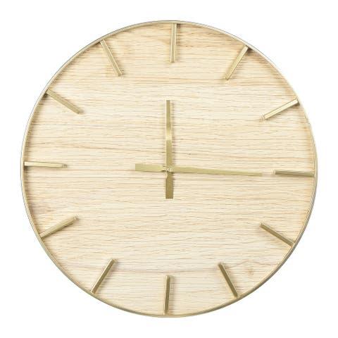 Round Wood Wall Clock, Natural