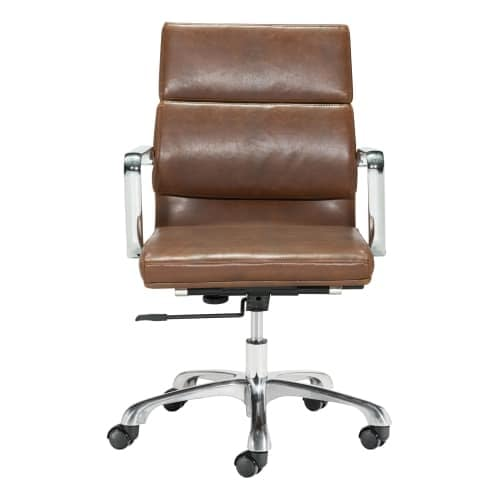 Sensational Zuo Modern 100770 Ithaca 22 Wide Aluminum Frame Office Chair With Swivel Base Evergreenethics Interior Chair Design Evergreenethicsorg
