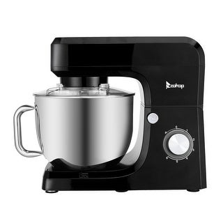 Link to Electric Stand Mixer, 7.5Qt Stainless Bowl, 6 Speeds, Tilt-Head, Dough Hook, Whisk and Flat Beater, Splash Guard, 660 Watts Similar Items in Kitchen Appliances