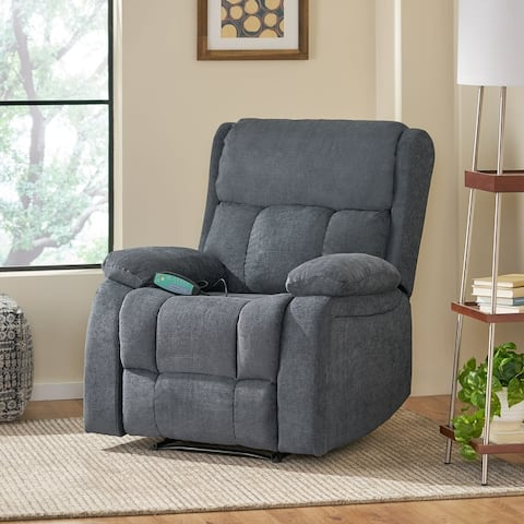 Lindale Indoor Pillow Tufted Massage Recliner by Christopher Knight Home