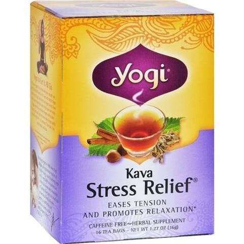 Yogi - Kava Stress Relief Herbal Tea Caffeine Free ( 6 - 16 BAG)