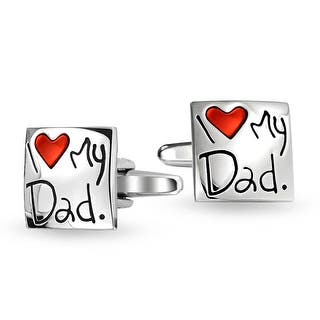 Bling Jewelry Stainless Steel Square I Love My Dad Cufflinks Red Heart|https://ak1.ostkcdn.com/images/products/is/images/direct/18229d73db79b16ae7ee1d58a9cab186f4f373a0/Bling-Jewelry-Stainless-Steel-Square-I-Love-My-Dad-Cufflinks-Red-Heart.jpg?impolicy=medium