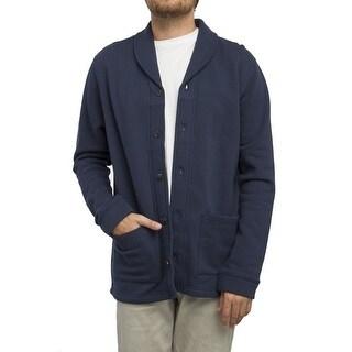 RVCA NEW Navy Blue Mens Size Medium M Shawl Collar Cardigan Sweater