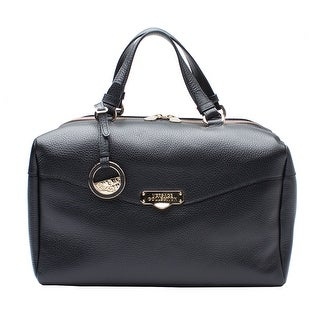 Versace Collection Leather Borsa Giorna Satchel Handbag - Black - S