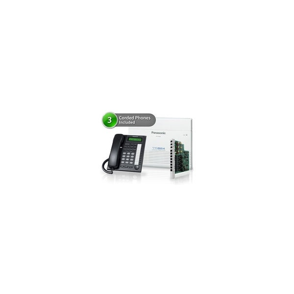 Panasonic KX-TA824-7730-5CO 3pack KX-TA824 Phone System plus KX-TA82483 Exp Card plus KX-T7730 Corded Phones