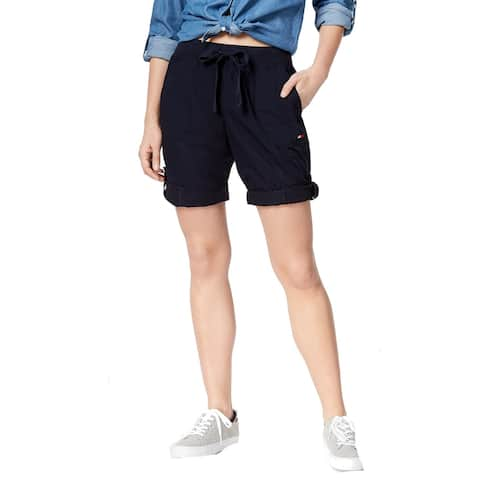 Tommy Hilfiger Women's Shorts Blue Size Large L Bermuda Walking