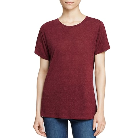 Rag and Bone Womens Burgundy Red Short Sleeve Tee T shirt