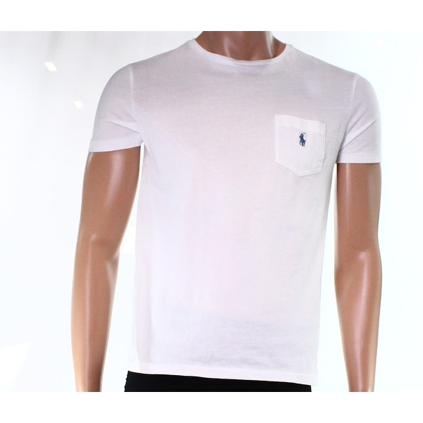 86f3966b8e38 Shop Polo Ralph Lauren NEW White Men Size M Crewneck Pocket Tee T-Shirt -  Free Shipping On Orders Over  45 - Overstock.com - 19506966