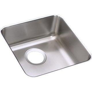 "Elkay ELUHAD121255  Lustertone 14-1/2"" Single Basin 18-Gauge Stainless Steel Kitchen Sink for Undermount Installations with"