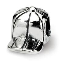 Sterling Silver Reflections Kids Baseball Cap Bead (4mm Diameter Hole)