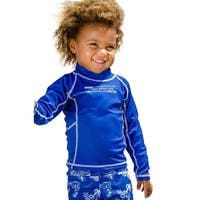 Sun Emporium Baby Boys Navy Multi Panel Long Sleeve Rash Guard