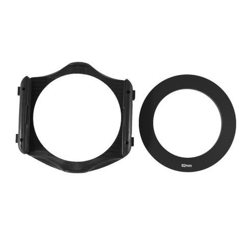 3-Slot Filter Holder + 62mm Aluminum Adapter Ring for Cokin P Series DSLR