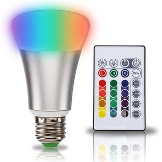 10W A19 LED Bulb,E26 Base ,RGB multicolor + Warm White/Daylight White, RGBWW 2800K/ RGBW 6500K