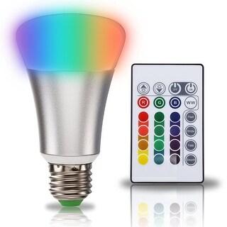 10W A19 LED Bulb,E26 Base ,RGB multicolor + Warm White/Daylight White, RGBWW 2800K/ RGBW 6500K
