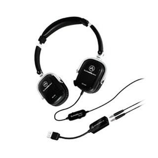 Andrea Headsets AND-SB-405B SB-405 Black Both Ear Headset withmics