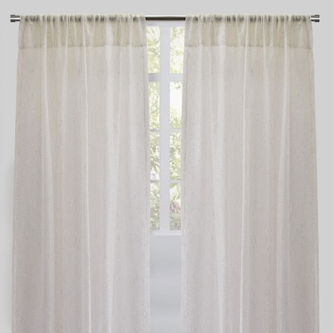 """Rodeo Home Balia Net Like- Sheer Curtains with Sequins (Set of 2) - 54"""" x 96"""""""