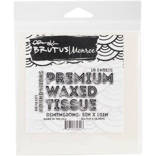 """Brutus Monroe 5""""X10"""" Vellum Like Waxed Tissue 10/Pkg-"""