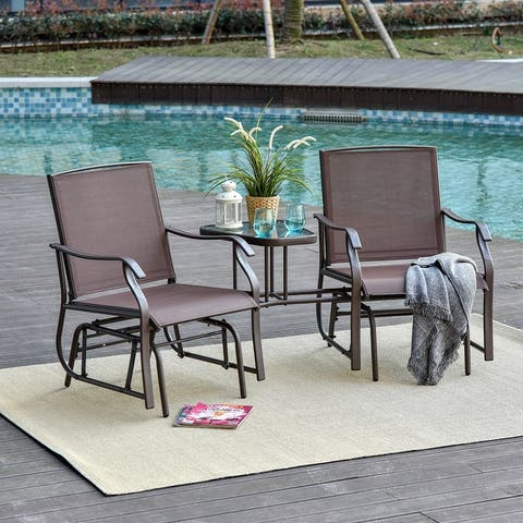 Sylvestere Sling Outdoor 3-pc. Chairs/Table Set by Havenside Home