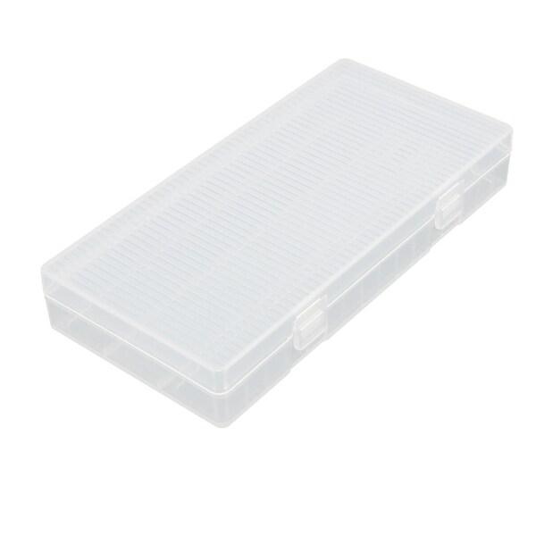 Transparent Storage Case Plastic Battery Box Holder Organizer 156mmx78mmx25mm