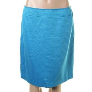 Tahari ASL Womens Petites Liana Tweed Knee-Length Straight Skirt
