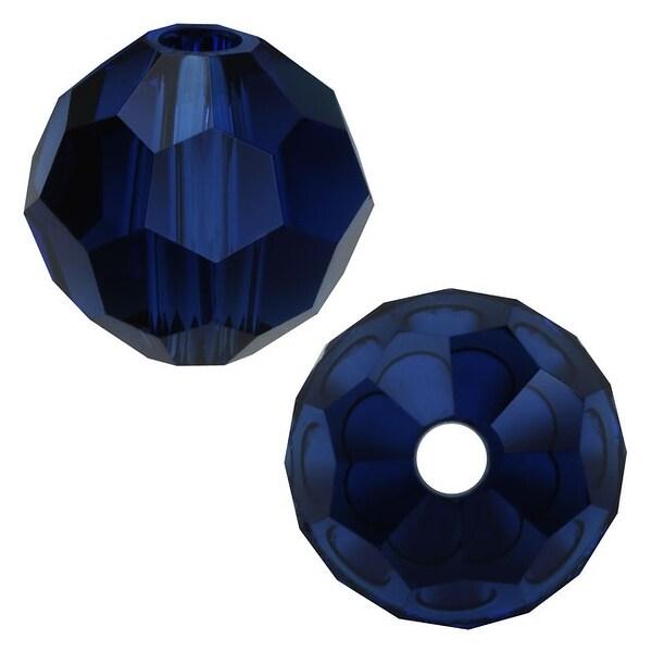 Swarovski Elements Crystal, 5000 Round Beads 4mm, 12 Pieces, Dark Indigo
